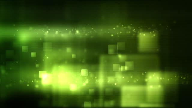 Glowing Boxes Loop - Full Screen (Green HD) video