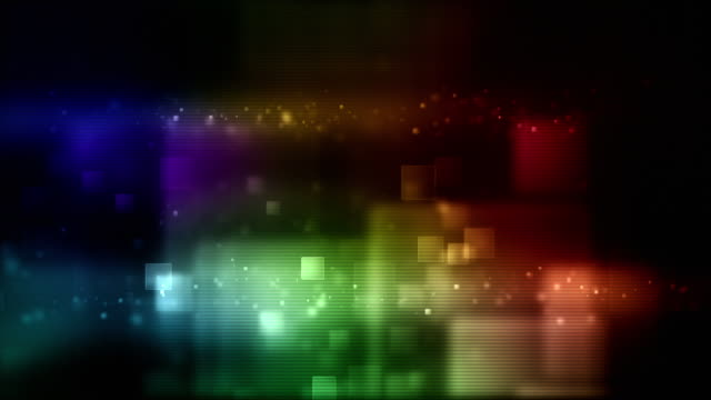 Glowing Boxes Loop - Full Screen (Rainbow HD) video