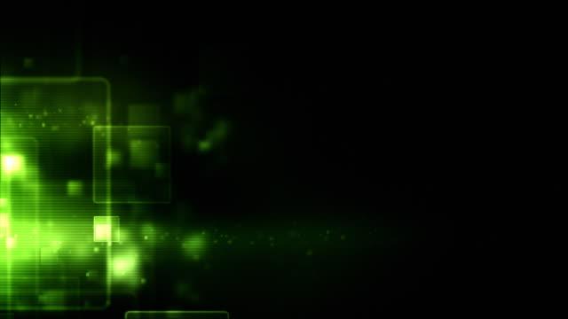 Glowing Boxes Loop - Green (HD 1080) video