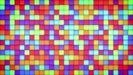 glowing bright colorful glass mosaic loop video