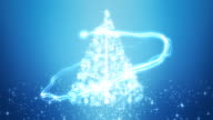Glowing Christmas Tree Background Loopable video