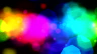 Glowing colorful lights background video