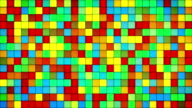 glowing colorful tiles glass mosaic loopable background video