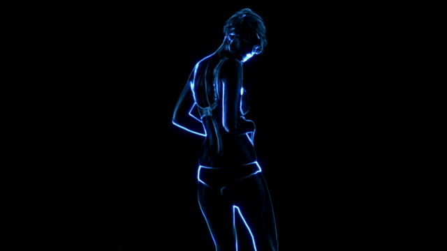 Glowing Dancing outlines video