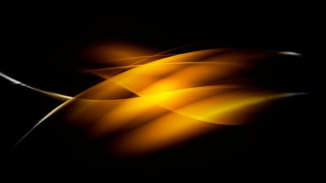 Glowing dark orange waves video animation video