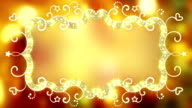 Glowing fancy banner loopable animation video