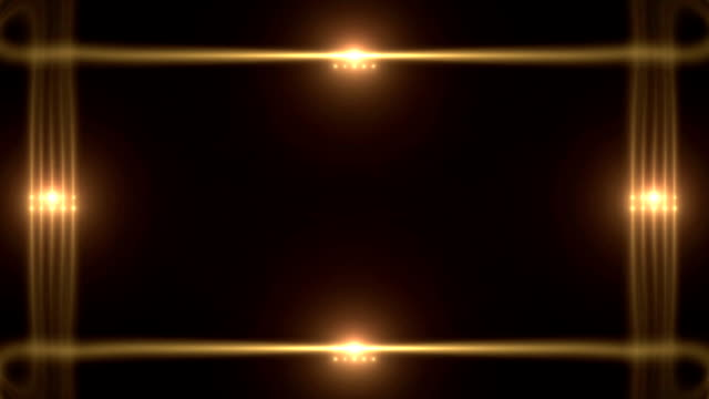 Glowing Golden Lines with Flares video