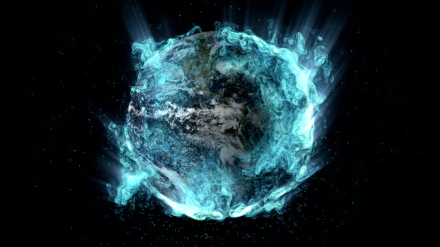 Glowing Liquid Earth video