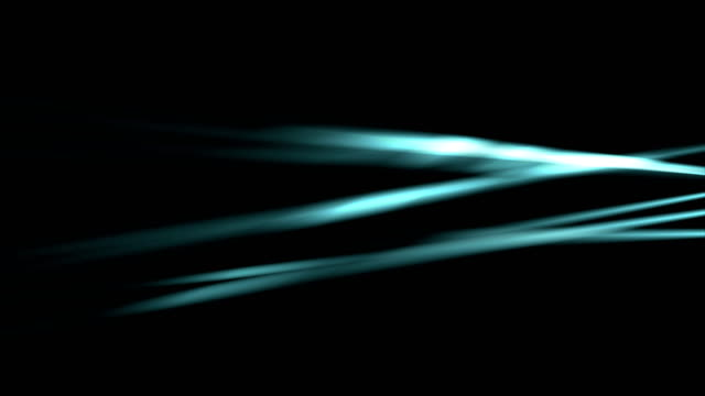 Glowing neon blue smooth rays video animation video