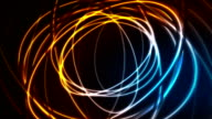 Glowing neon ellipses, bright traces video animation video