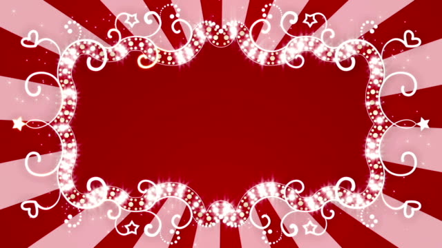 glowing red banner loopable animation video