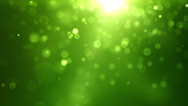 Glowing Sparkle Dots Background Loop - Vibrant Green (Full HD) video