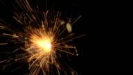 Glowing sparkler video