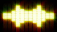 glowing VU meter wall video