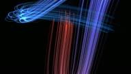 glowing wavy elegant light streaks with flares 4K video