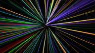 Glowing wavy organic lines video