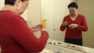 Glucose Monitoring Wide Shot video