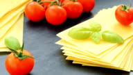 Gluten free lasagna with cherry and fresh basil video