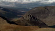 Glyder Fach And Tryfan  - Aerial View - Wales, County Borough of Conwy, United Kingdom video