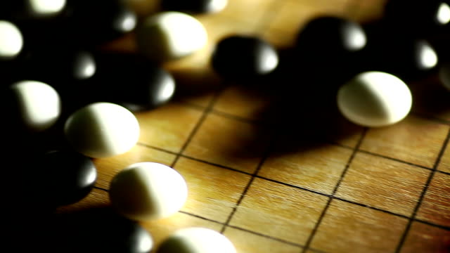 Go board game, with black and white stones video