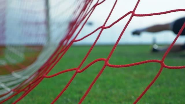 Goal ! Football game - soccer player scoring video