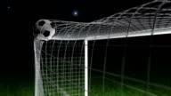Goal - Football / Soccer ball into net video