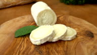 Goat cheese with bread video