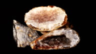 Goethite crystals video