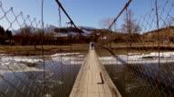 Going across the bridge. video
