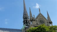 Going to the front view of the Notre Dame Cathedral video