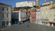 Going up in the old city Piran video