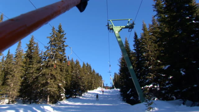 going up with t-bar lift video