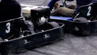 HD: Go-kart racers start the race video