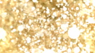 Gold Abstract Bokeh Lights Particles Loop Background. video