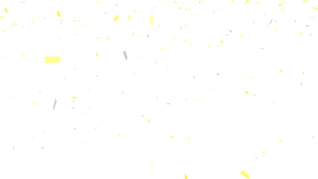 Gold and Silver Confetti - alpha channel included video