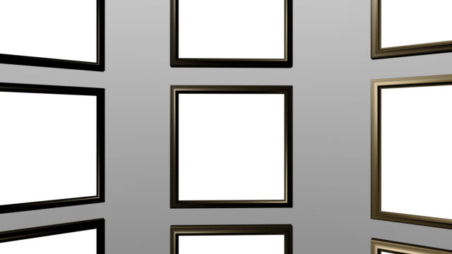 Gold Art Frames Loopable video