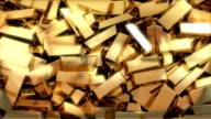 Gold bars falling video