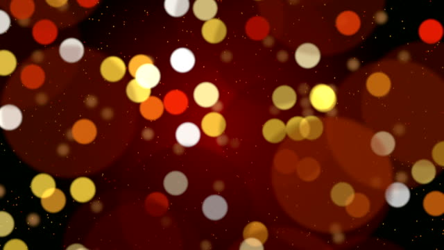 Gold bokeh holiday background video