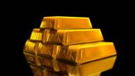 Gold Bricks Bullion (loop HD) video