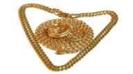 Gold chains and wedding rings rotate video