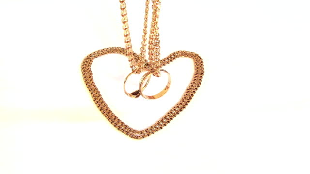 Gold chains and wedding rings video