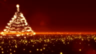 Gold Christmas Tree video