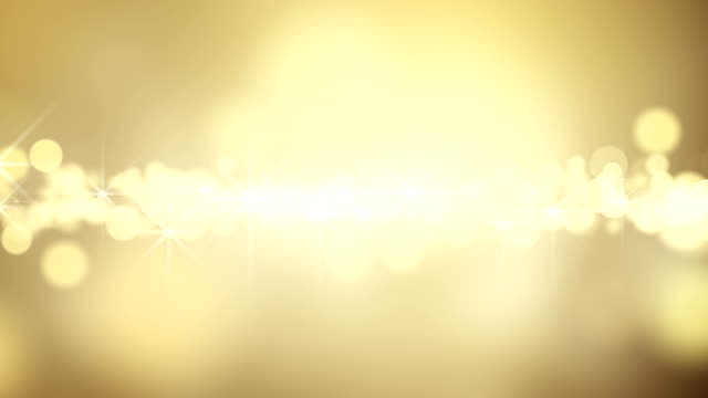 gold circle bokeh lights loop background video