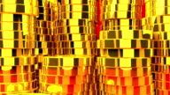 Gold Coins On Red Background video