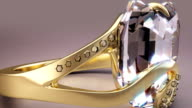 24K Gold Diamond Ring video