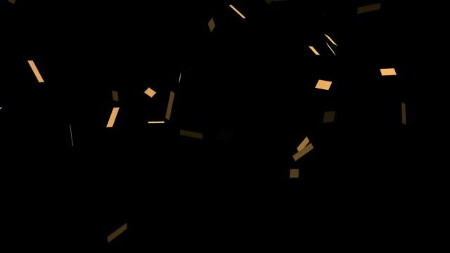 Gold glitter confetti background video