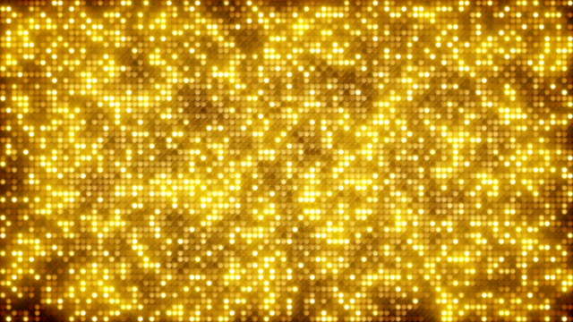 Gold glitter dots loopable background video