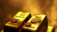 4K: Gold ingots and coins video