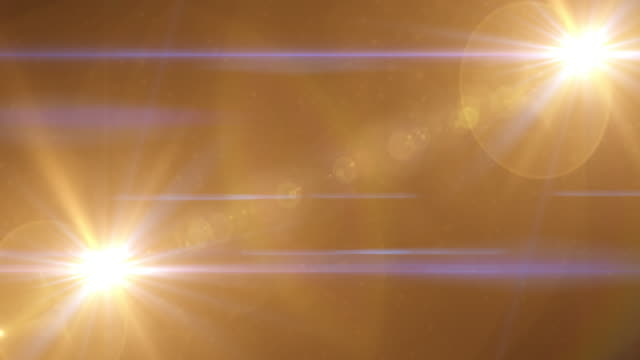 Gold Light Lens Flare Abstract Background video