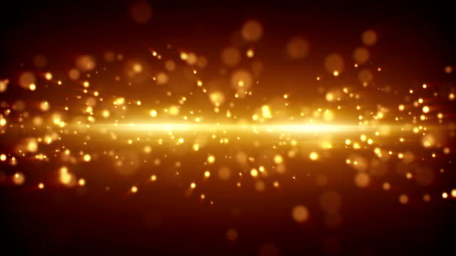 gold light stripe and particles loopable background video